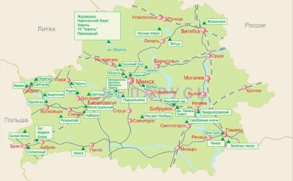 туристу | Карта Беларуси