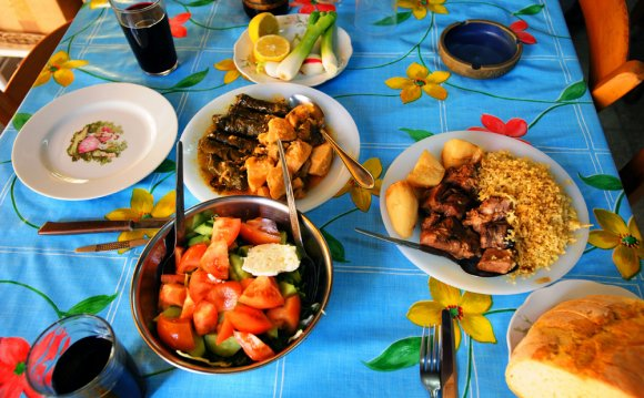 Ужин в кафе Никосии