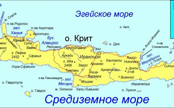 Остров Крит - туризм и шопинг